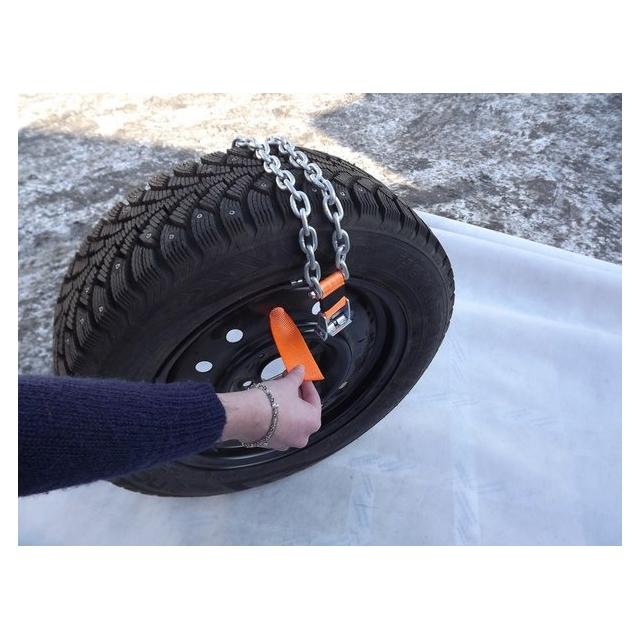 Резиновые цепи на колёса своими руками 12